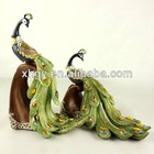 European Style Resin Peafowl Crafts Peacock Home Decoration Peacock Wedding Gifts(XH001)