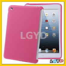 Hot selling Pure Colour TPU Shell case cover for ipad mini / mini 2 Retina (Magenta)