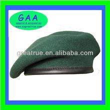Stylish Woolen Cap, Dark Green Cheap Military Beret