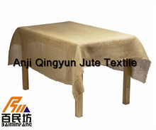 burlap table covering 72 inches nature color