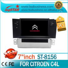 Hot DVD Player Citroen C4 L Navigation system with 3G,Bluetooth,gps navigation,IPOD,USB music, hot sales! LSQ Star