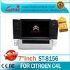 Car dvd player Citroen C4 L In Dash car Navigation System with 3G,GPS Navigation, hot sales! LSQ Star