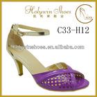 Holywin ankle strap laser cuts upper low heel women new design footwear wholesale