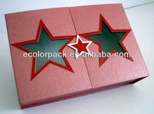 paper gift packaging box fancy five pointed star paper gift packaging box wholesale