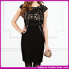 new arrival elegant black party dresses for women hollow out short party dress pattern