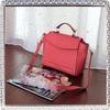 Leather fashion red color handbag new style fashion designer handbag