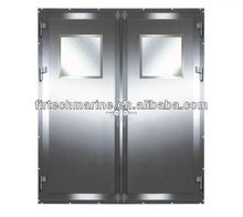 Ship Exterior A60 Weathertight Double Leaves Fire Rated Steel Door used on vessel and sea drilling platform