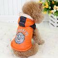 100% caída de poliéster/de invierno chaqueta de color naranja para mascotas ropa para perros