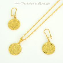 24K Light Weight Gold Necklace Sets New Design Gold Pendant