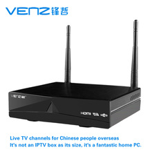 Free shipping VENZ Android4.0 720P HD online live digital TV STB IPTV dnet Hong Kong Taiwan Macao Global Chinese Live TV Player