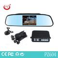 Good venta de aparcamiento retrovisor detector de radar con espejo retrovisor pulgadas 4.3 y sensores de la cámara y por alarma bibi sonido
