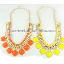 Fashionable Colorful Acrylic Empty Cup Chain Necklace