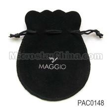 Black Printing Logo Gift Jewelry Bags