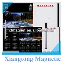 River-Custom-Photo-Profile-Calendar-Magnetic-Memo- Board With Pen /Magic Magnetic Writing Board