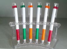 ballpen and highlighter promotion plastic ballpen