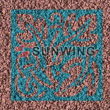 Sunwing cheap colored rubber mulch
