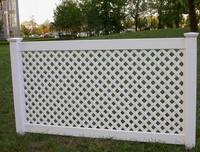 PVC Large lattice decorative fence
