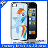 3d cartoon phone case for iphone 4with animal image