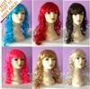 crazy color wigs,cheap fluorescent color party wigs, bright color party wigs