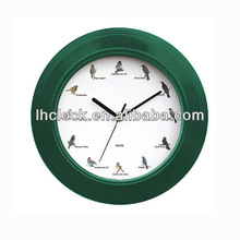 12 inch bird sound Decorative Wall Clock with music hourly