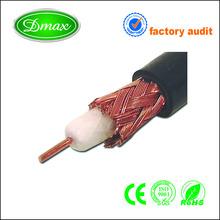 satellite/cctv 75ohm rg6 coaxial cable copper/ccs pvc sheath price