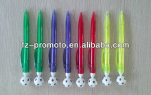 Hot selling cheap plastic pen with football on top with your logo