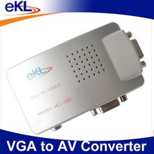 PC VGA to AV TV RCA Video Adapter Converter Unit