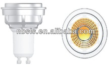 GU10 Hot Sale LED COB Spotlight 7W (COB Series) Aluminum+PMMA Lens dimmable suitable of kinds of transfomer and dimmer