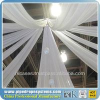 Organza wedding ceiling drape fabric & Wedding backdrop