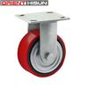 Cast Iron Polyurethane Castor Rigid Caster Wheels Heavy Duty PU Caster Wheel