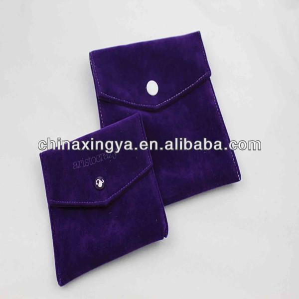 Velvet jewelry envelope bag