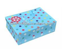 2013 fashion colorful dot printing varnish paper bag