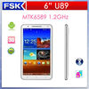 New Arrival Shenzhen Star U89 Smartphone 6inch Android 4.2 MTK6589 Quad Core Cell phone