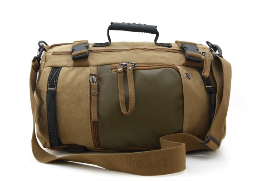 Camping canvas shoulder bag travel bags