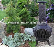 aztec cast iron outdoor chiminea