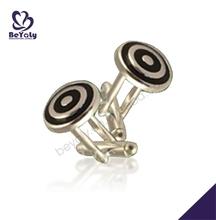 Circle puzzled round chic craft male party brass cufflink studs