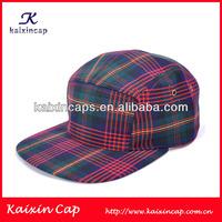 OEM Custom Wholesale Checked 5 Panel Caps No Logo Hats Tweed Trilby Hat