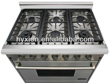 6 Induction Ingintion burner, Natural Gas Range, Cooking Range with Oven