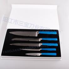 5pcs wholesale Kitchen color knife set With Dark Blue Color Coating