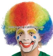 Cheap Colorful Party Wigs for men, crazy color wigs,fluorescent color party wigs