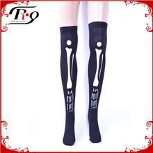 black skeleton halloween stocking