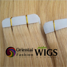 "AAAAA Oriental Fashion 20"" 613 human hair pre-bonded virgin brazilian remy hair tape cheap glue hair extension"