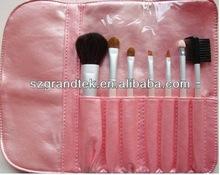 7pcs Pink Professional Cosmetic Makeup Make up Brush Brushes Set Kit With Bag Case