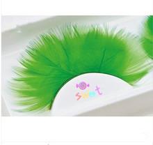 Fancy color false eyelashes, two tone color eyelashes, hand made eyelashes
