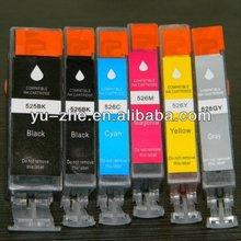 For Canon PGI525PGBK CLI526BK CLI526C CLI526M CLI526Y CLI526GY compatible ink cartridge