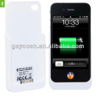 For iPhone 4/4S QI receiver case for iPhone 4,4S wireless charging case available models for 4,4S,5,5S,5C