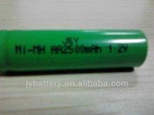 Shenzhen battery manufacturer2500mah 1.2v battery nimh aa battery for vacuum cleaner
