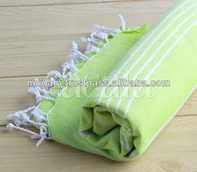 OEM wholesale pestemal turkish bath towels foutas hand loom production from Turkey
