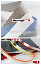 4 best quality glossy shades/ woodgrain pvc edge banding for furniture