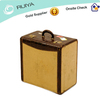 Vintage Tan canvas with crocodile leather trim suitcase luggage distressed shop dispaly hot sell 2013-LS-001